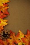 边界秋天 库存照片