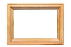 边界空的框架木头 免版税库存照片