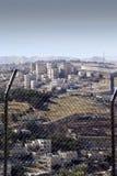边界篱芭在耶路撒冷以色列 库存图片