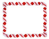 边界糖果圣诞节丝带 免版税库存图片