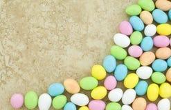 边界糖果复活节彩蛋 免版税库存图片
