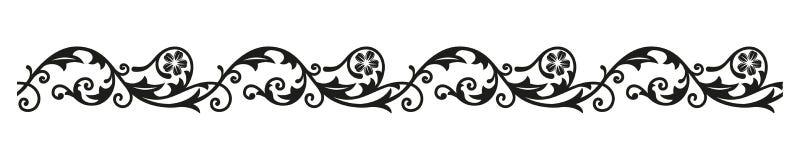 边界装饰品 设计的装饰葡萄酒元素 库存图片