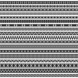 边界装饰在黑白颜色的元素样式 下载例证图象准备好的向量 图库摄影