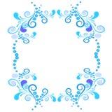 边界要素花卉框架螺旋向量 库存图片