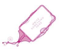 边界设计粉红色 免版税库存照片