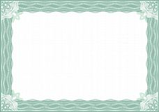 边界证明文凭扭索状装饰 免版税库存照片