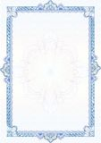 边界证明经典文凭扭索状装饰 免版税库存照片