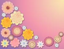 边界逗人喜爱花卉 免版税库存照片