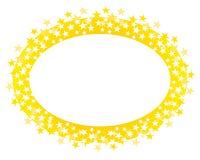 边界金子徽标长圆形星形 免版税库存图片