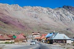 边界阿根廷智利安地斯 图库摄影