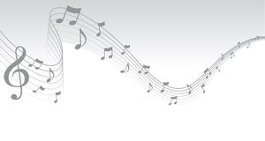 边界音乐页页银 免版税库存照片