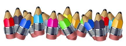 边界颜色铅笔 向量例证
