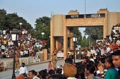 边界indo巴基斯坦 库存图片