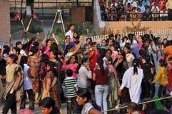 边界indo巴基斯坦 库存照片