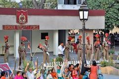 边界indo巴基斯坦 免版税库存图片