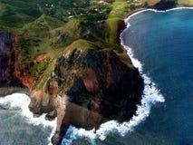边缘岩石的毛伊 免版税图库摄影