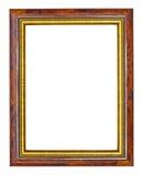 边缘框架金子makha木头 免版税库存图片