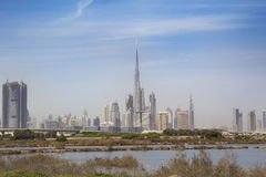 从边缘的迪拜 免版税库存图片