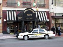 边路再开在Maggiano ` s餐馆 库存照片