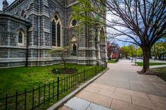 边路和科珀斯克里斯蒂教会,在巴尔的摩,马里兰 免版税库存图片