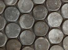边路的灰色水泥砖 免版税库存照片