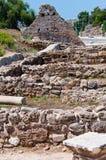 边,土耳其古城废墟  免版税库存图片
