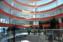 边,土耳其- 2014年4月16日:豪华五星边的旅馆水晶海军上将Resort 是一个普遍的旅游目的地 图库摄影