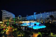边,土耳其- 2014年4月16日:豪华五星边的旅馆水晶海军上将Resort 是一个普遍的旅游目的地 免版税库存照片