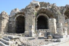 边6古城的废墟 免版税库存图片