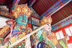 辽宁,中国- 2015年8月05日:在实胜寺的Budda雕象 免版税库存图片