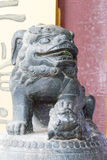 辽宁,中国- 2015年8月01日:在法警张家大院的雕象 库存照片