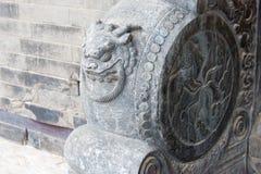 辽宁,中国- 2015年8月01日:在法警张的Ma的石鼓 库存照片