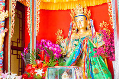 辽宁,中国- 2015年8月05日:Budda雕象atShisheng寺庙 W 免版税库存图片