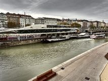 达努比奥河的看法在维也纳 库存图片