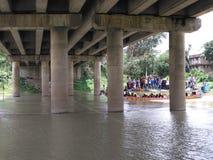 达卡河照片 免版税库存图片