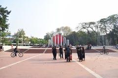 达卡,孟加拉国,-行军,17日2019年:中央受难者纪念碑 库存照片
