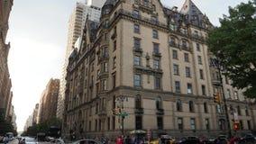 达可它的天外部建立的射击在曼哈顿 股票录像