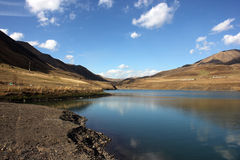 达吉斯坦山湖 库存照片