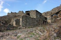 达吉斯坦山的老村庄 库存照片