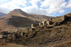 达吉斯坦山的老村庄 免版税库存照片