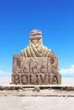 达喀尔雕象在撒拉族de uyuni 免版税库存照片