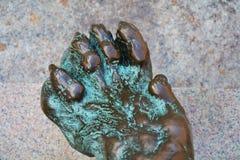 达妮埃尔Manin在威尼斯镀青铜雕象和爪子狮子,欧洲 库存照片