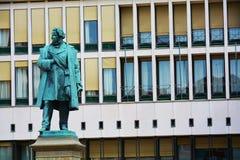 达妮埃尔Manin雕象和建筑大厦,在威尼斯,欧洲 库存图片