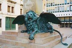 达妮埃尔Manin,古铜色狮子,威尼斯,欧洲 免版税库存照片