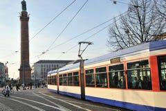达姆施塔特德国公共交通 免版税库存照片