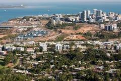 达尔文一张空中照片,澳大利亚的北方领土首都 免版税库存图片