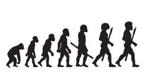 达尔文演变理论 达尔文演变定义 人的达尔文演变 免版税库存图片