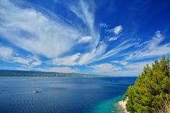 达尔马希亚海岸克罗地亚 库存照片