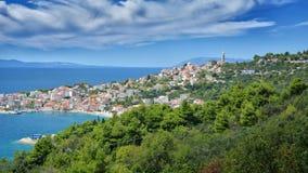 达尔马希亚海岸克罗地亚 免版税图库摄影