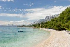 达尔马希亚海滩在克罗地亚 库存照片